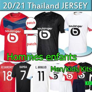 Losc Lille Soccer Jersey 2020 2021 Yazici Çelik Bamba Botman 20 21 Lille Olympique أطقم الكبار Kids Jikone rsanches مايلوت دي قميص كرة القدم