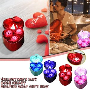 30# Valentine's Day Flower Gift Rose Flower Box Bear Bouquet Holiday Gift Decoration DIY Decoration Birthday Heart