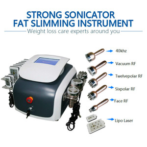 Professional 6 in1 Diode Lipo Laser RF Vacuum Slimming Skin Tightening System Ultrasound Cavitation Fat Reduction Cellulite Removal Machine