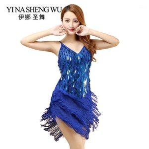 Stage Wear 2021 Arrivals Sexy Fringe Latin Dance Dress For Girls Tassel Skirt On Sale 4 Colors Available1