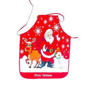 Natale Grembiule Babbo Natale Buon Natale della decorazione per la casa del partito festival di regali di natale del fumetto Vita Grembiuli 6 colori KKB2684