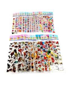 50pcs Lot Бесплатная доставка тавра малышей игрушки Мультфильм 3d наклейки Дети Девочки Мальчики Поливинилхлоридные наклейки пузыря наклейки Gyh sqcPoT toys2010