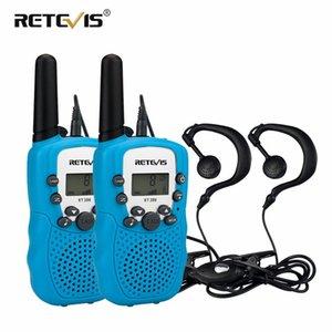 Mini Two Way Radio 2ST Retevis RT388 Kinder Walkie Talkie PMR446 PMR Handy-Kinder-Woki Toki + 2pcs Headset Weihnachtsgeschenk
