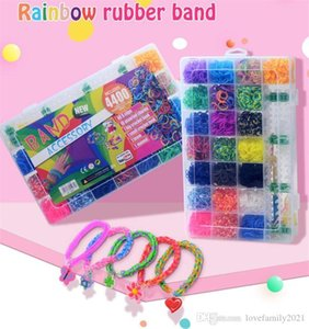 Para crianças ou cabelos arco-íris Borracha Bandas Faz Bracelete Tecido DIY Brinquedos Educação Christmas Crianças Presentes
