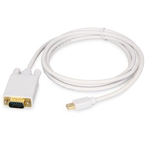 1.8M / 6FT Displayport DP для VGA для MacBook Cables Conture Summer-Make Cabo Adapter TV AV кабельный компьютер