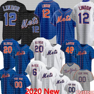 12 Francisco Lindor Jersey 6 Jeff McNeil 20 Pete Alonso 48 Jacob degent 34 Noah Syndergaard Marcus Stromana Darryl Strawberry Piazza Confort