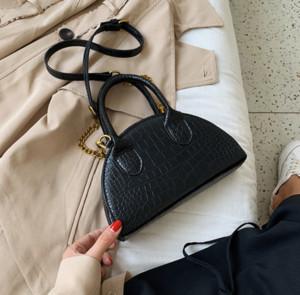럭셔리 핸드백 지갑 아가씨 디자이너 패션 여성 가방 악어 피부 여성 어깨 가방 패션 쉘 미니 핸드백 레이디 암소 //