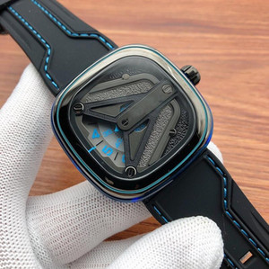Men's watch M3 02 Leather Watches 316L Stainless Steel for Man blue color Automatic waterproof colors Wristwatches 2020 new design 22