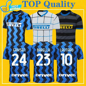ERIKSEN Inter LAUTARO HAKIMI 2021 Milan Soccer Jersey BARELLA DE VRIJ LUKAKU 20 21 Maillot de Foot inter Men Kids Kit Football Shirt