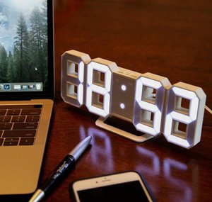 Modern Design 3d Led Wall Clock Modern Digital Alarm Clocks Display Home Living Room Office Table Desk Night Wal wmtmQd xhhair