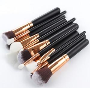 15pcs Makeup Brushes Set with bag Powder Eye Shadow Foundation Powder Blush Lip Make Up Brush for Makeup