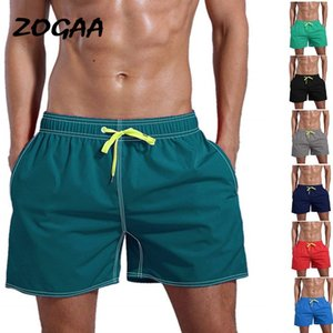 2020 zogaa men's shorts beach color unified cotton cotton fast drying multi color pants beach shorts men's Training Shorts