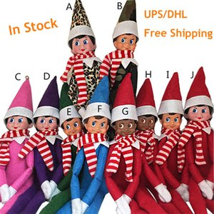 Free Shipping 10 Styles Merry Christmas Ornaments Elf Plush Dolls Toys On The Shelf For Kid Christmas Gift Holiday Home Party Decor 35D b76