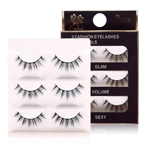 3D Soft Thick Black Cross False Eyelashes Makeup 3 Pairs Long Fake Eye Lashes Extension Tools #224825
