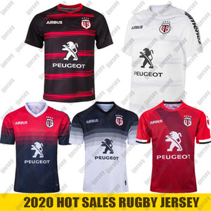 2021 New Toulouse Rugby Trikots Liga Jersey Nationalmannschaft 2019 2020 Toulouse Rugby Trikots Freizeit Sport Lentulus Shirts Größe S-5XL
