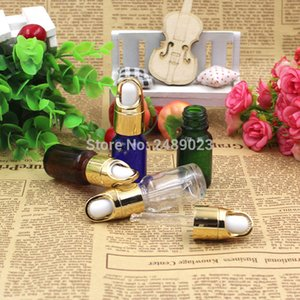 Wholesale 10ML Amber Blue Green Transparent Glass Liquid Reagent Pipette Bottle Eye Dropper Drop Aromatherapy 100pcs lot