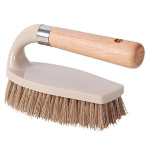 Legno multifunzionale Spazzole scarpe spazzole da cucina Abbigliamento Dirt Rimuovere servizi igienici bagno Vasche Scarpe Spazzola Tile Piano Strumento FFA4495