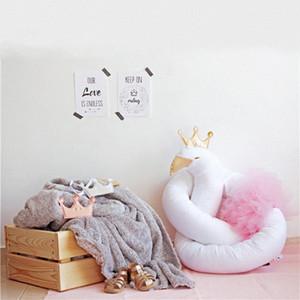 2020 New Golden Crown Swan Bed Bumper Newborn Baby Bed Bumper Crib Newborn Knot Crib Infant Room Decor ZA0u#