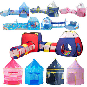 Portable 3 In1 Baby Raby Closing Tunne Play House Pit Pit Stent для детей Toy Gool Pool Ocean Holder Set