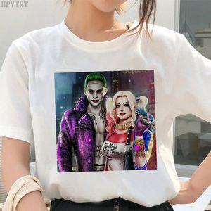 Modische Frauen Plus Size T-Shirt Harley Quinn Joker Selbstmord Squad Gedruckt Weibliche T-Shirt Sommer Harajuku Casual Tshirt Tops
