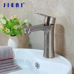 Jieni Mélangeur lavabo Nickel brossé Robinet Faucet inoxydable de lavage en acier bassin d'évier Robinet mitigeur Robinet pont monté