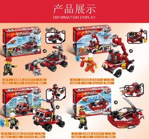 Fogo de montagem 1 8 DIY Block City Prédio Presente em Brigada Pequena Criança Puzzle Toy Partícula Hookf