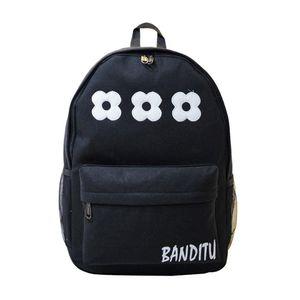 xiniu Women Double-Shoulder Lovely Flowers Canvas Backpack Schoolbag Flowers zipper escolar feminina bags for women 2018