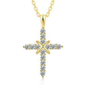 Pendant Necklaces Hip Hop Cross Necklace Men And Women's CZ Jewelry Fashion Gift