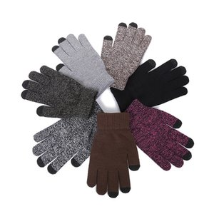 Touche plus épais tricotant gants chauds tactile écran magique gant acrylique mobile téléphone universel écran tactile gants de haute qualité 130 n2