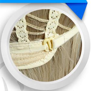 앰프! Love Live Minami Kotori Long Curly Linen Flaxen 내열성 헤어 코스프레 의상 가발 + 무료 가발 모자
