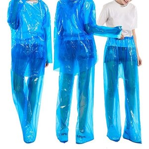 Disposable Raincoat,dustproof Waterproof Suit Adult,protective Safety Raincoat Set for Outdoor Hiking Fishing 5pcs