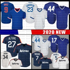 Hommes 27 Jose Altuve 44 Anthony Rizzo Jersey Baseball 17 Kris Bryant 23 Ryne Sandberg 34 Nolan Ryan 5 Jeff Bagwell 7 Craig Biggio Jerseys