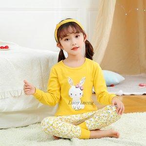 Sonbahar Çocuk Pijama Erkek pijamalar Pijama Çocuk Pijama Takım Elbise Bebek Kız Giyim Küçük Gençler Uzun Kollu Kızlar Pijamas ayarlar