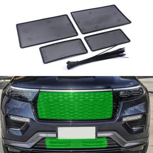 Para Ford Explorer 2019-2020 ST con el automóvil rejilla frontal Inserte mallas contra insectos en polvo de basura Prueba inoxidable interior la cubierta del acoplamiento