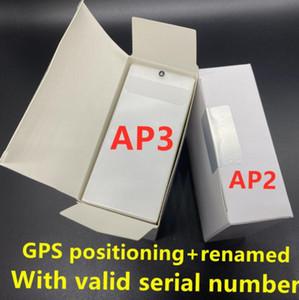 H1 auricolari chip GPS Rinomina Aria Ap3 pro Tws Gen 2 Pods finestra pop up automatico per cuffie Bluetooth paring Earbuds casi di ricarica senza fili nuovo