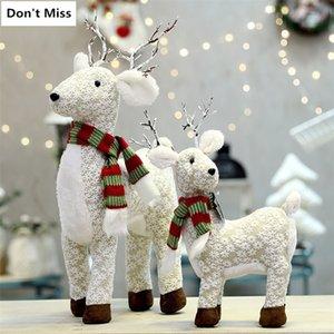 Figurine regalo per bambini renna bambole decorazione del nuovo anno navidad figurine buon natale 201128