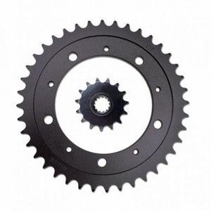Für CBR400 NC29 Getriebe Motorrad Vorne Hinten Sprocket geartransmission 525 15T / 40T Schwarz 1Msn #
