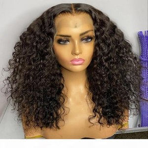 Perruques de la dentelle Human Coiffe de Courbisie Kinky Curly Human Hair Perruques pour femmes en dentelle pleine dentelle 180 Densité Cheveux Remy Perruques de cheveux Perruque 360 en dentelle en dentelle