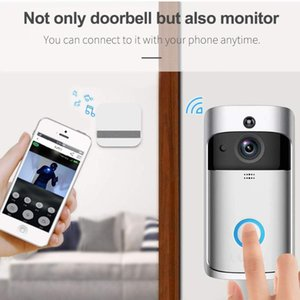 جرس الباب hontusec wifi الجرس الفيديو الباب إنترفون 2MP hd اللاسلكية المنزل الذكي IP جرس كاميرا الأمن إنذار الأشعة تحت الحمراء للرؤية الليلية