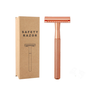 Double Edge Safety Razor Премиум Влажное бритье Классический металл Ручной Бритвы мужские Бритье высокое качество металла бритвы