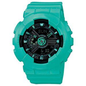 2020 цифровые светодиодные дамы кварцевые спортивные часы ремня резиновые военные многофункциональные кварцевые часы водонепроницаемый наручный подарок