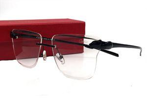 Rimless Round Square Tortoiseshell degli occhiali del tempiale flessibile lega di titanio Gambe vetri ottici Frameles prescrizione