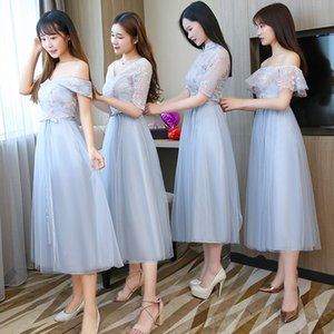 Embroidery Long Bridesmaid Dresses New Summer Wholesale Sister Wedding Party Prom Bridal Plus Size Vestidos De Festa 960