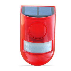 Waterproof Solar Alarm Light Sound Security Siren Light 6 LED Alarm Warning Security Anti-Theft Flashing Light Sensor Garden Lamp 235 G2