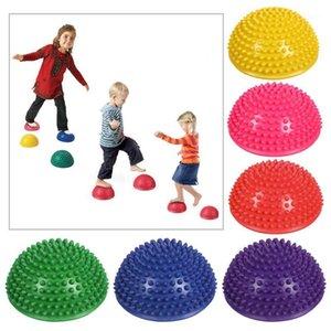Musle Rulo Topu Spinal Masaj Ağrılı Kas Yoga Egzersiz Yarımküre Adım Stones Ball Dropship1