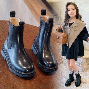 Çocuklar kızlar hakiki deri martin çocuk ayakkabıları için 2020 küçük sonbahar yeni moda prenses botları AAdct