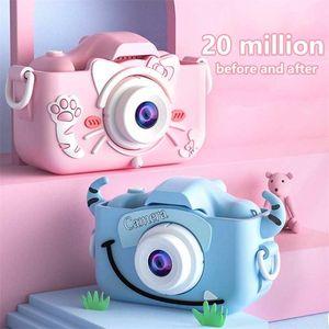 Mini Kids Children's IPS Screen HD 20 Megapixel Dual Children Digital Photo Camera Toys LJ201105
