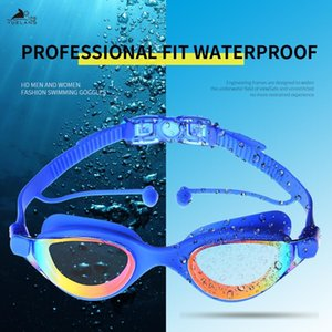Yuelang Professional Swimming Goggles Swimming With Earplugs Waterproof Glasses Anti Uv Silicone Glasses Electroplate Yuelang Sqcy