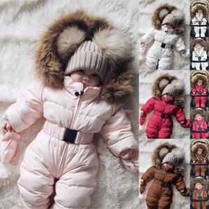 Winter Baby Boy Girl Clothes Romper Warm jumpsuit baby overalls Long Sleeve Hooded Outerwear Snowsuit winter overalls @A Y200919