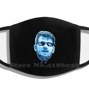 Number 77 Deal With It Design Black Breathable Reusable Mouth Mask Luka Doncic Basketball Mavericks